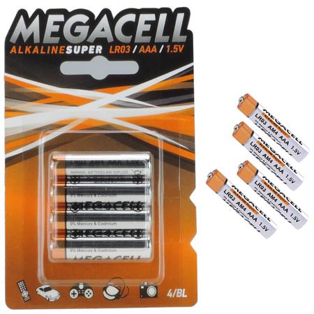 4 x Baterie Alkaiczne Megacell LR03 AAA IDEALNE DO PULSOMETRÓW ! (1)