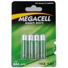 4 x Bateria Megacell Heavy LR03 AAA 1,5V Power (3)