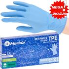 RĘKAWICZKI BEZPUDROWE MERIDA 100SZT XL NIEBIESKIE  TPE NOWOŚĆ (1)